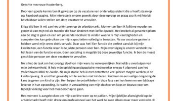 motivatiebrief onderwijsassistent Sollicitatiebrief Onderwijsassistent (starter)   Sollicitatiebijbel.nl