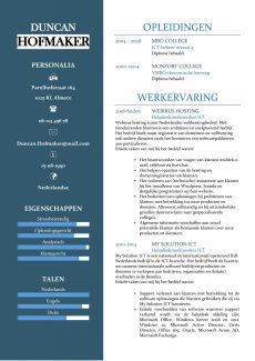 CV Sjabloon Cambridge 1-2 (2 paginas)