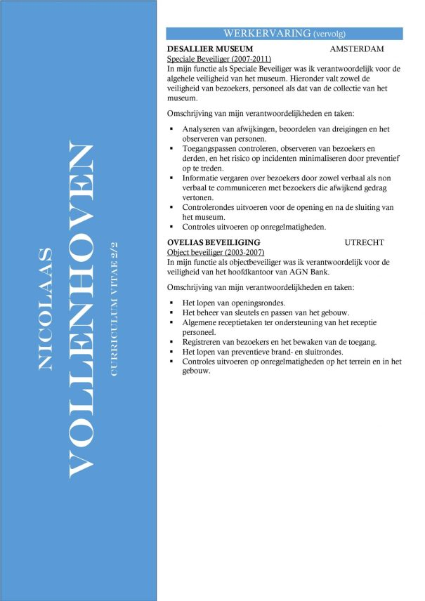 CV Sjabloon Nottingham 2-2 (2 paginas)