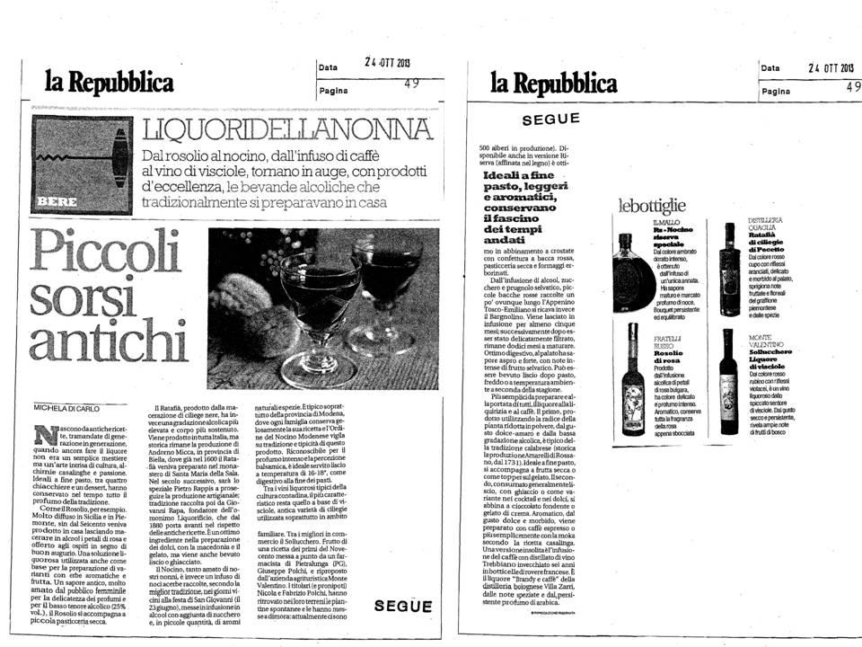 Piccoli sorsi antichi_laRepubblica 24 10 2013