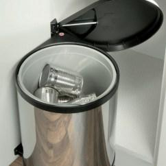 Kitchen Stainless Steel Trash Can Wooden Set For Toddlers Hailo Under Sink Waste Bin Mono (15l)