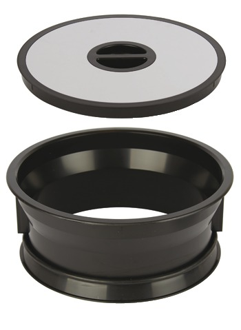 black kitchen cabinet hardware stonewall jam worktop waste bin bag holder mounting in Ø 276 mm hole