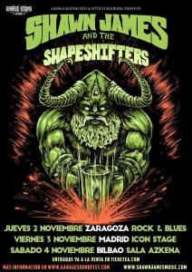cartel España Shawn James & The Shapershifter