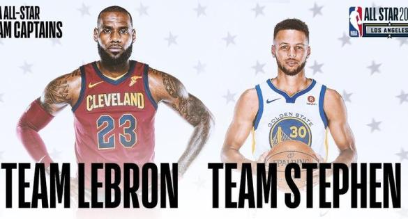 Resultat d'imatges de nba all star 2018 stephen lebron