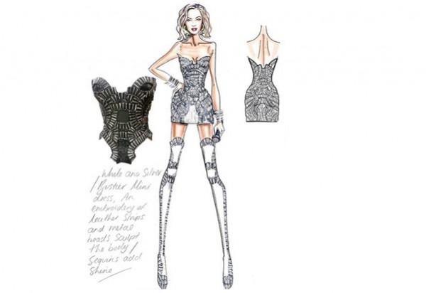 Beyoncè look Versace per il Tour 2014