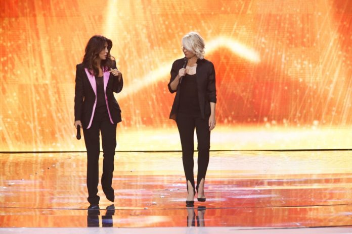 Maria De Filippi and Sabrina Ferilli