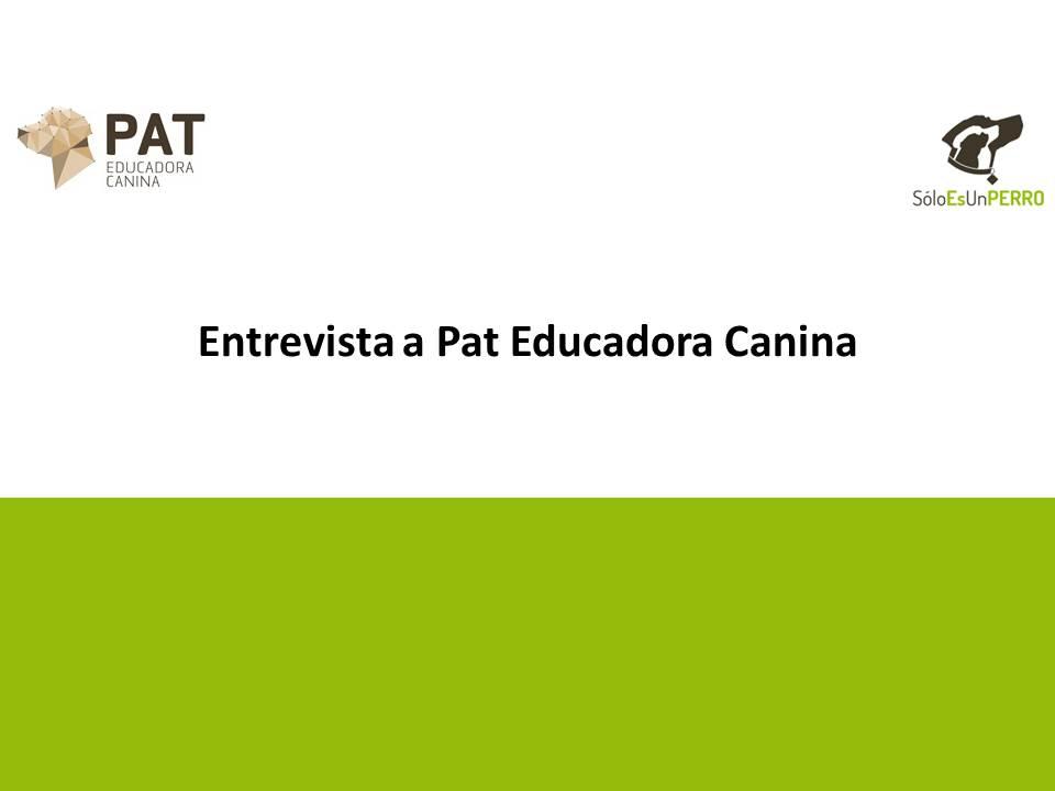 Entrevista a Pat Educadora Canina