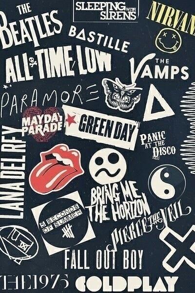 Fall Out Boy Logo Iphone Wallpaper 100 Mejores Fondos De Rock 161 Yeah Fondos De Pantalla