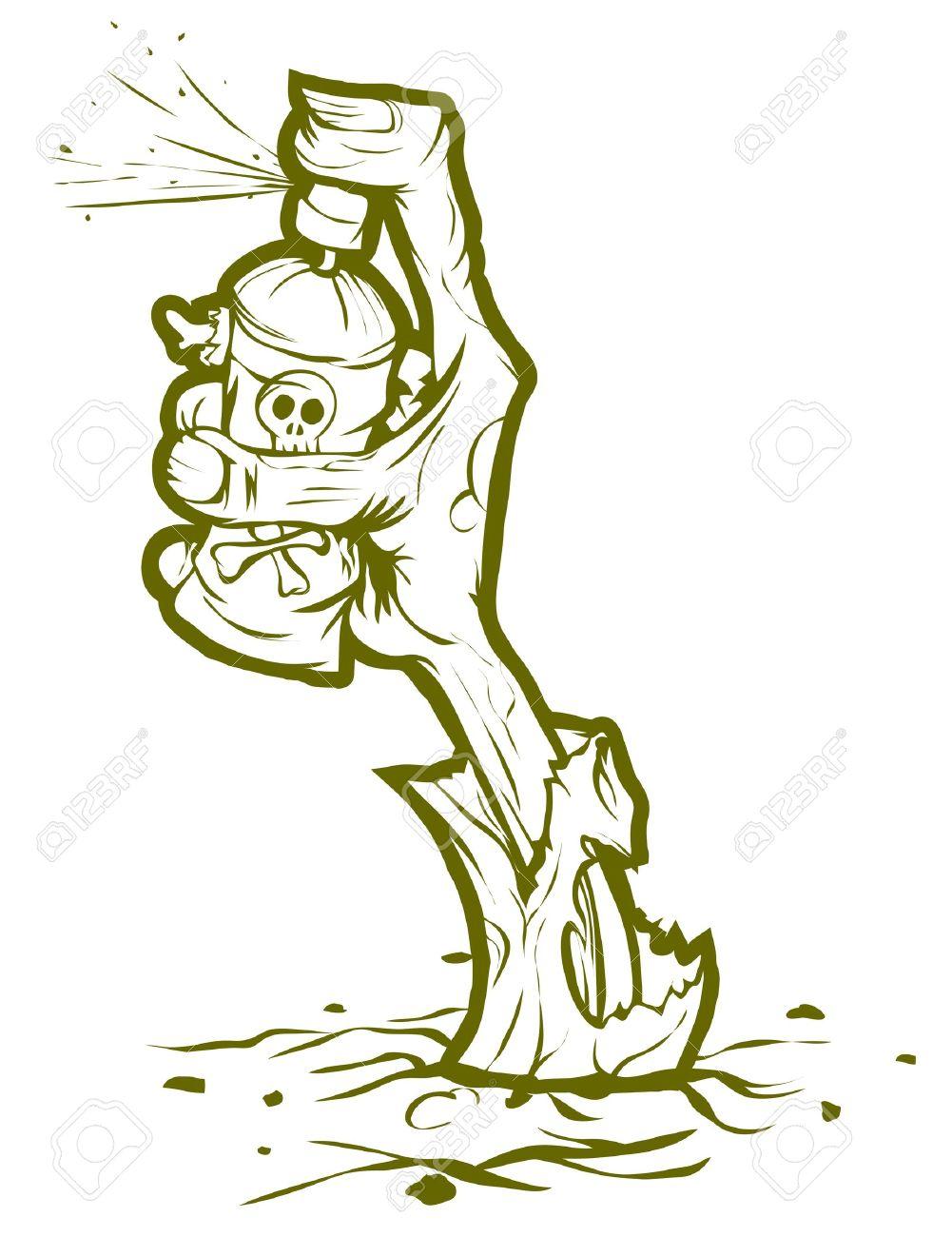 Cartoon Graffiti Spray Can