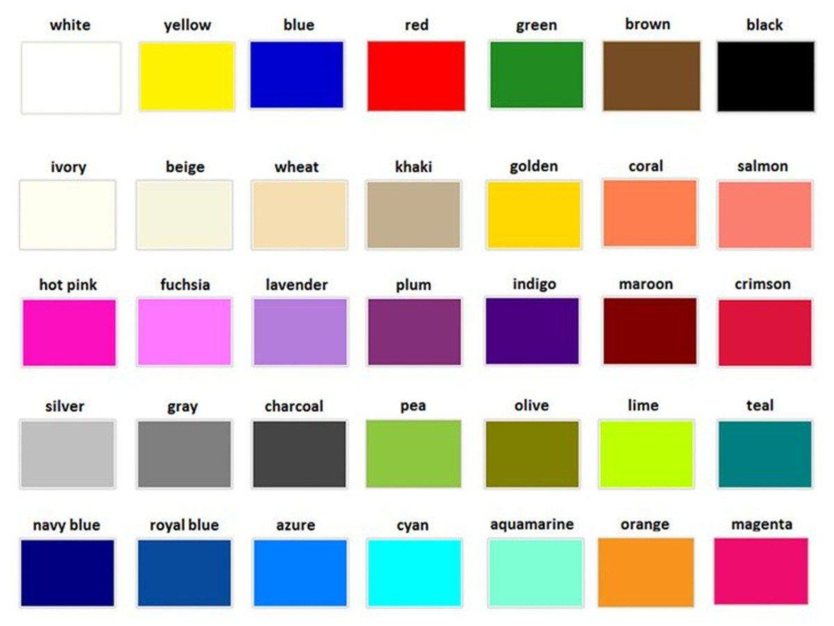 Colori In Inglese Come Si Scrivono
