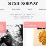 diseño web music norway