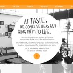 diseño web the taste creative