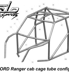 race legal roll cage ford ranger [ 1700 x 1169 Pixel ]