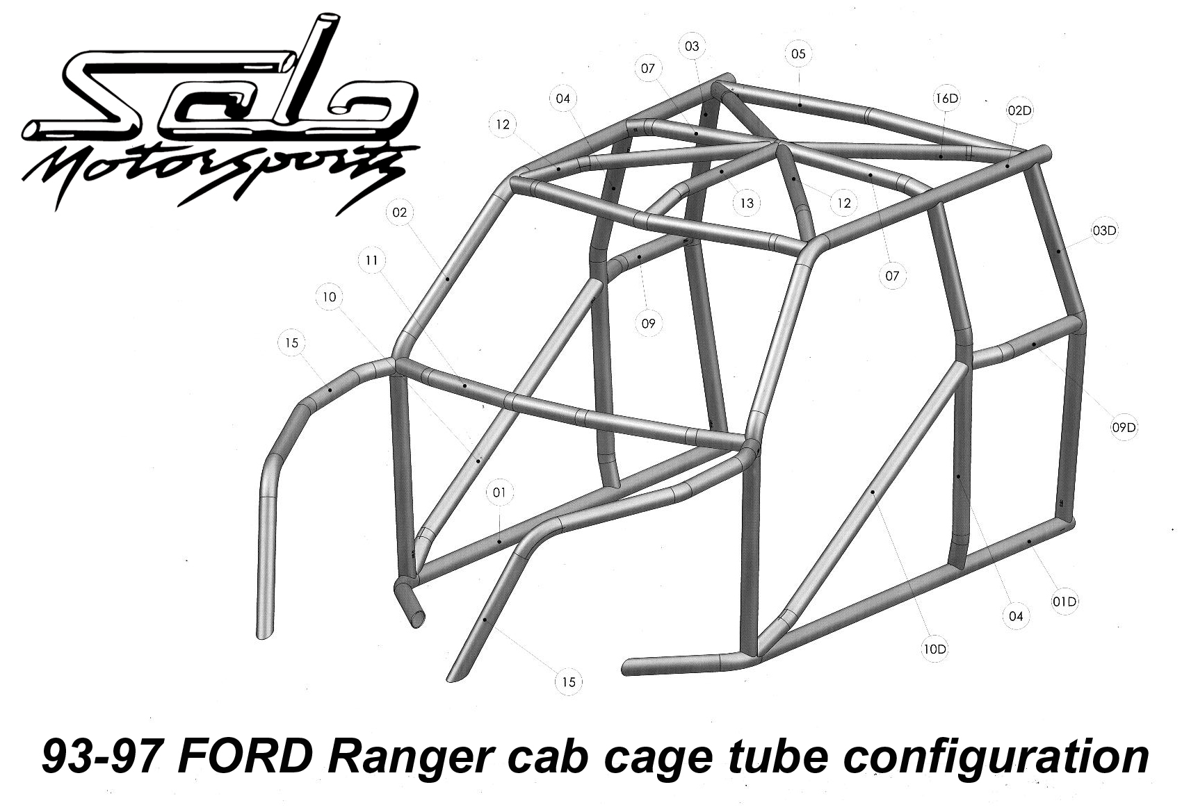 hight resolution of race legal roll cage ford ranger