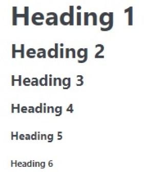 Different header sizes