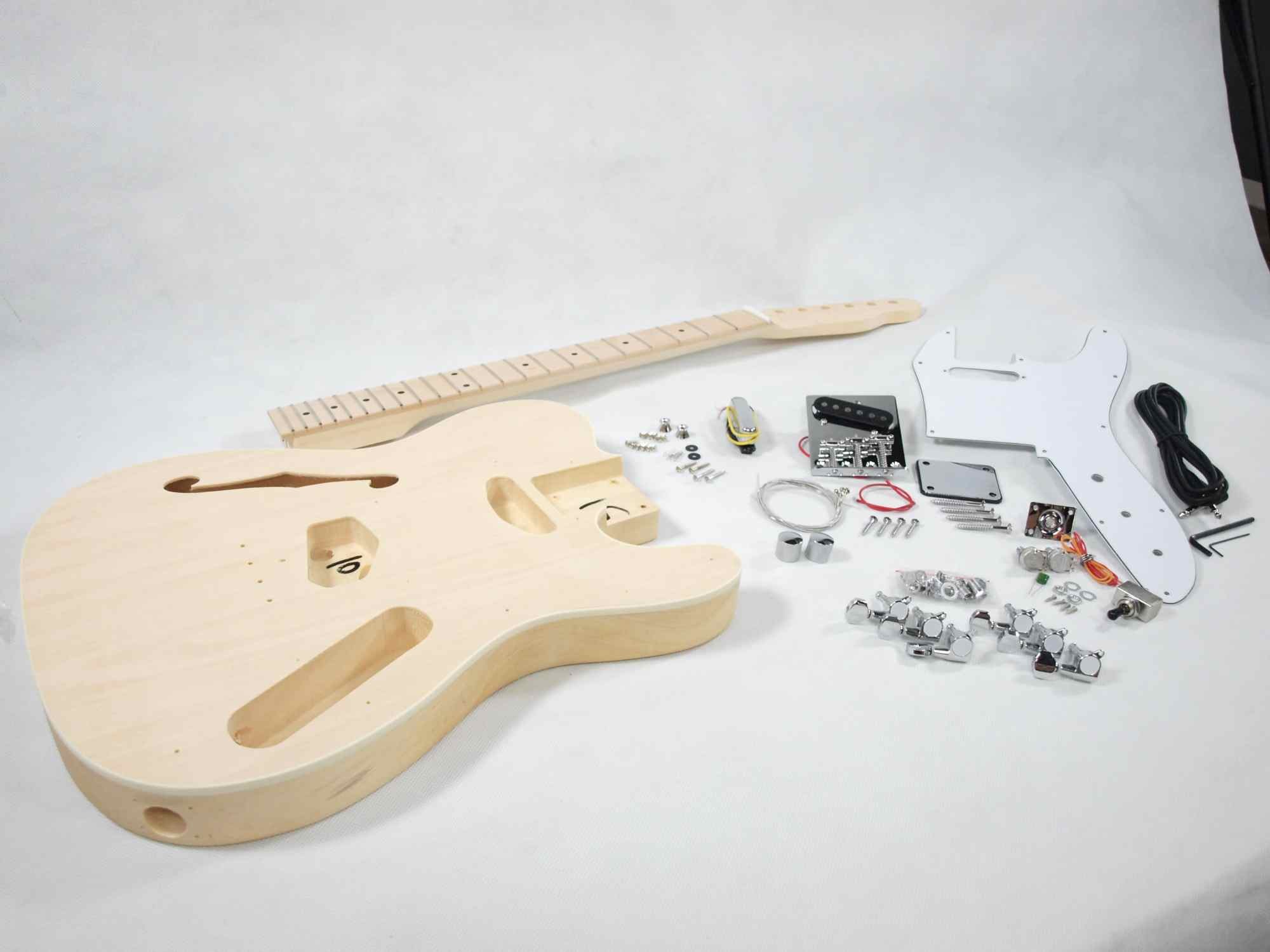 hight resolution of solo tc style diy guitar kit semi hollow maple top maple neck diy guitar kits semi hollow body guitar wiring diagrams