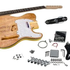 Wiring Diagram For Les Paul Style Guitar Trailer Light 5 Wire Solo Lp And Unfinished Diy Kit Mahogany Body Spalted Tc Maple Top B Stock
