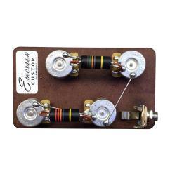 emerson custom les paul prewired kit  [ 1049 x 1091 Pixel ]