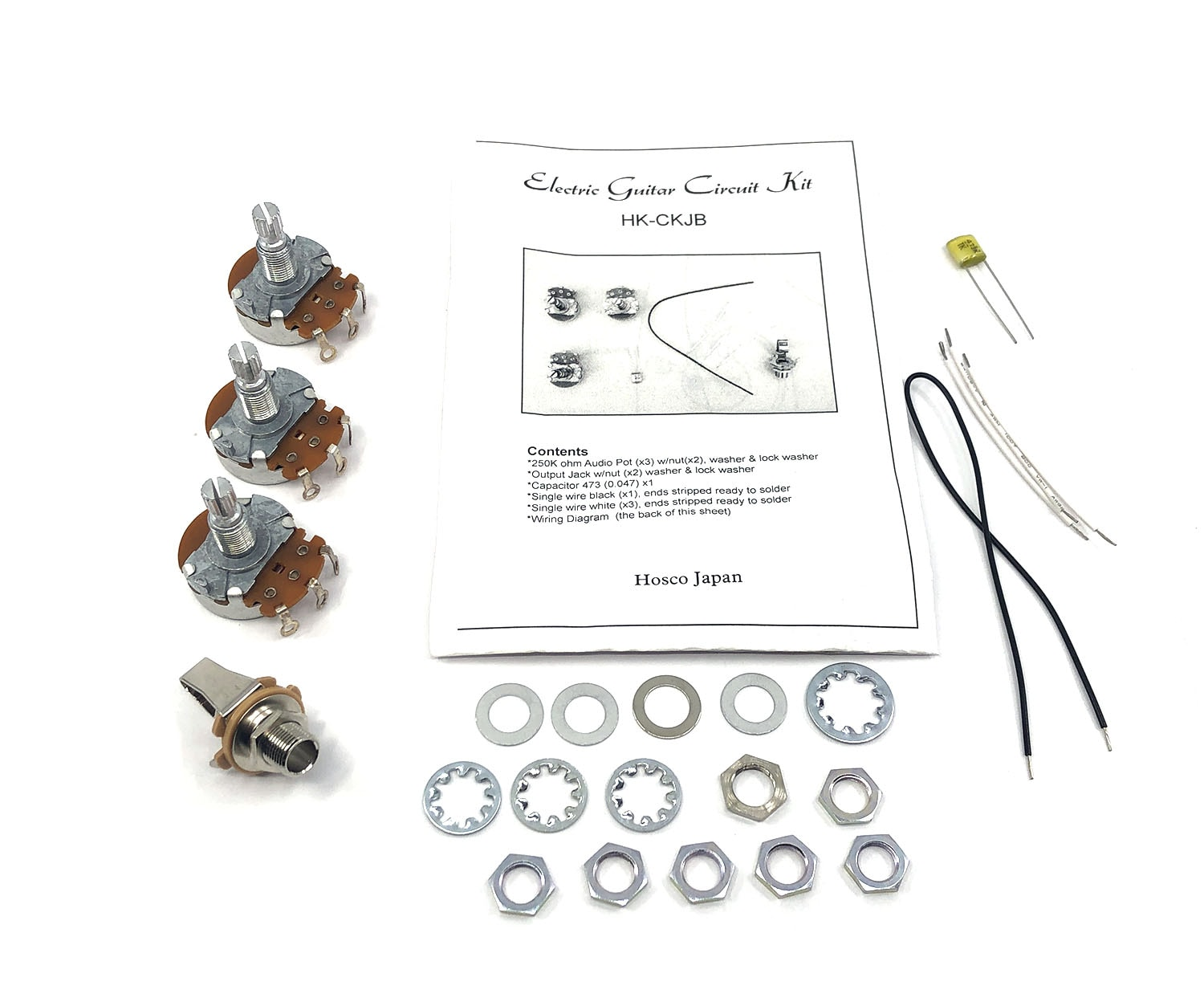 Hosco Hk Ckjb Jazz Style Bass Wiring Kit