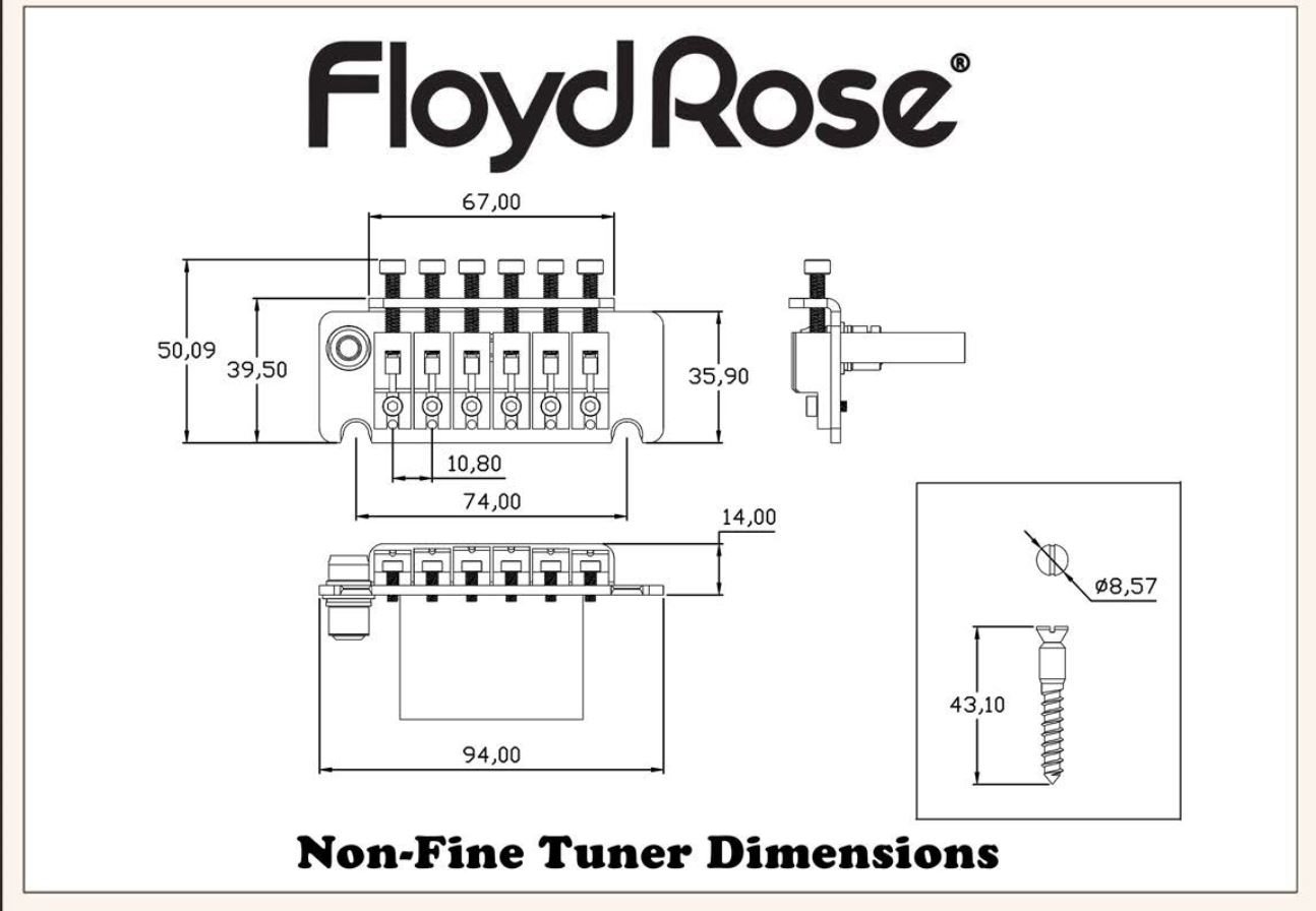 Floyd Rose Non Fine Tuner Tremolo System