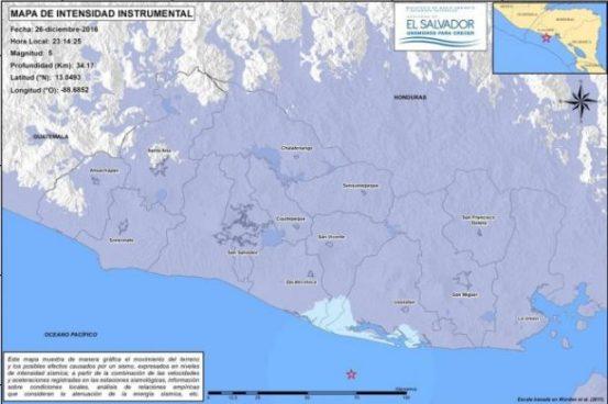 Sismo con epicentro en Usulután fue sensible en todo el territorio