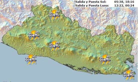 Se esperan chubascos y tormentas eléctricas en varias partes del país.