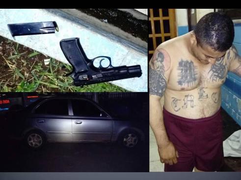 Capturan en Santa Ana a sujeto que había tachado sus tatuajes alusivos a pandillas
