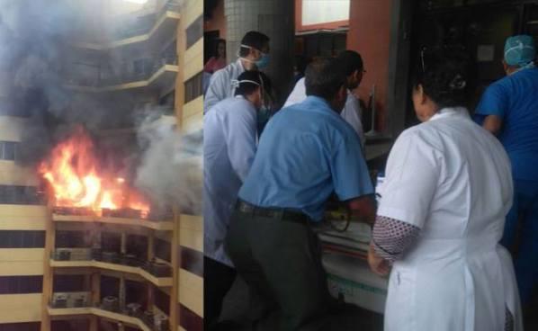 Dos fallecidos y más de 20 heridos tras incendio en edificio del Ministerio de Hacienda