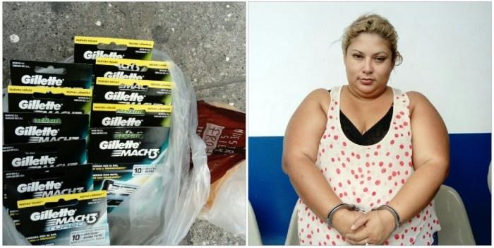 Mujer nicaragüense capturada por llevar $106 de producto robado en su ropa interior