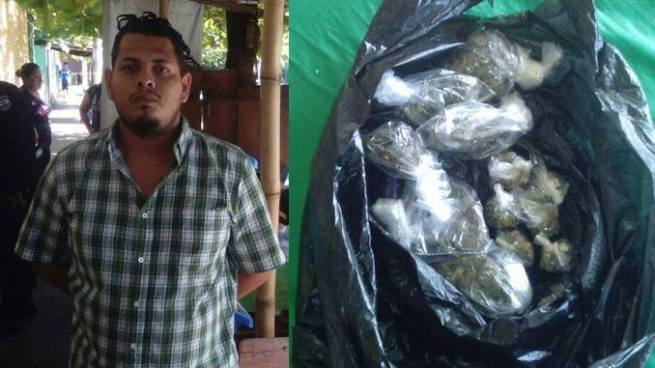 Capturan a traficante de droga en San Salvador