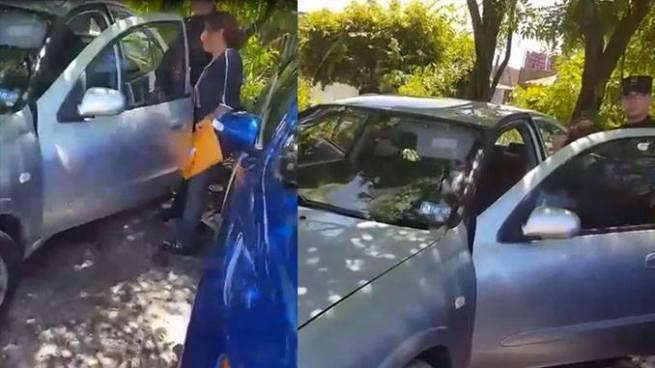 Mujer deja encerrado a su hijo de tres años al interior de un auto en Mejicanos