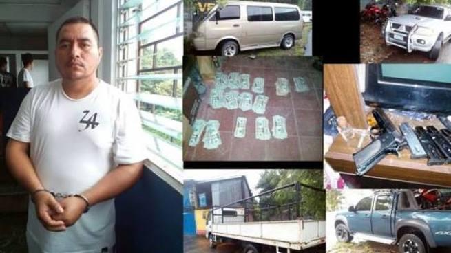 Capturan en La Paz a cabecilla de la MS con vehículos, terrenos y gran cantidad de dinero