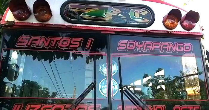 Ruta de buses 7-C en paro de labores