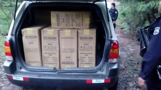 Contrabandistas abandonan más de 25 mil dólares en mercadería en Metapán, Santa Ana