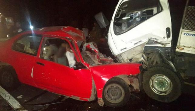 Choque frontal entre camión y automóvil cobra la vida de una persona en Aguilares