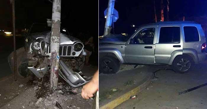 Alcalde de San Sebastián Salitrillo provoca accidente al conducir en estado de ebriedad