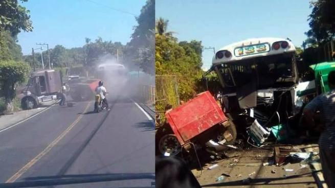 Fuerte accidente deja varios heridos y provoca el cierre de una carretera en La Paz