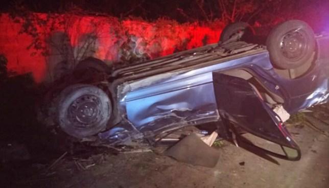 Accidente de tránsito en la Troncal del Norte deja cinco personas lesionadas