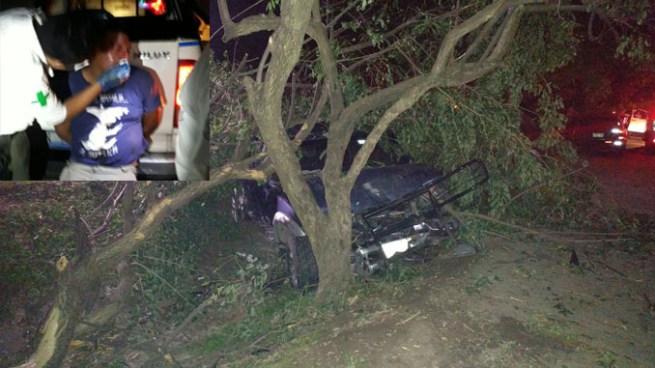 Conductor en aparente estado de ebriedad se accidenta sobre la carretera de Oro