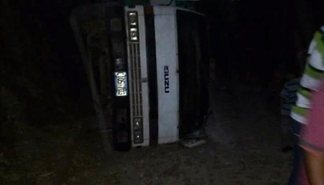 Volcamiento de camión con activistas del PCN deja un muerto y 15 lesionados en Sonsonate