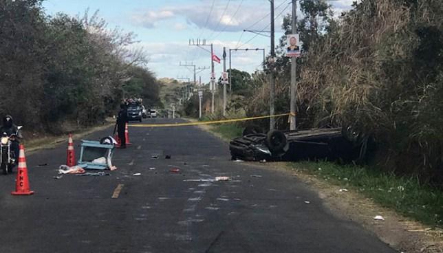 Borracho atropella y mata a vendedor de minutas y lesiona a su hijo en Cabañas