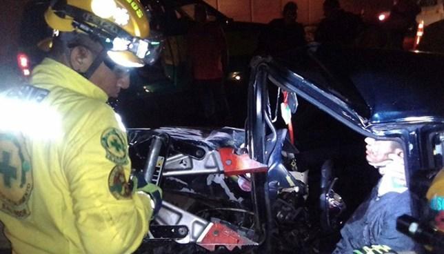 Accidente de tránsito en Guazapa deja dos personas fallecidas y una más lesionada
