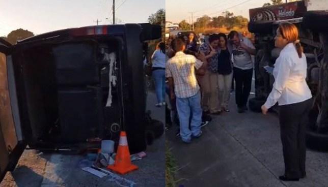 Accidente de tránsito en carretera de Quezaltepeque deja 5 personas lesionadas