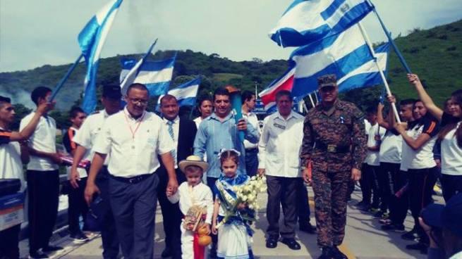 Antorcha centroamericana ya se encuentra en El Salvador