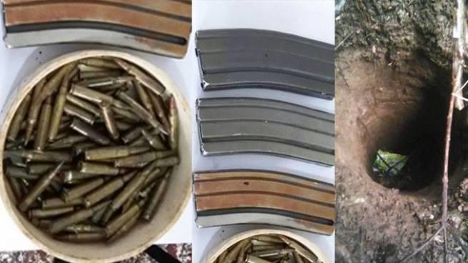 PNC encuentra armamento de uso militar enterrado en una finca de Santa Ana