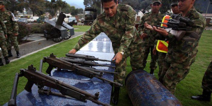 Las FARC hace entrega de sus armas a la ONU