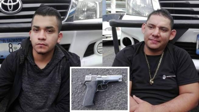 Detienen en San Salvador a sujetos en el momento que asaltaban a automovilistas