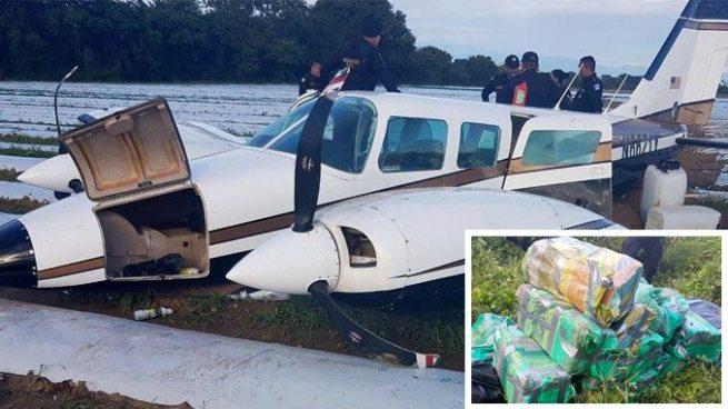 Localizan en Guatemala narco avioneta con cargamento de droga