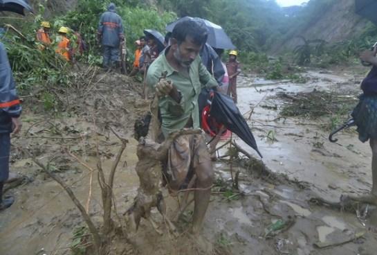 148 personas fallecidas por lluvias torrenciales en Bangladesh
