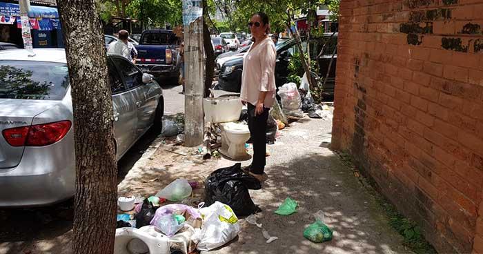 MARN verifica problema de recolección de basura en Santa Tecla